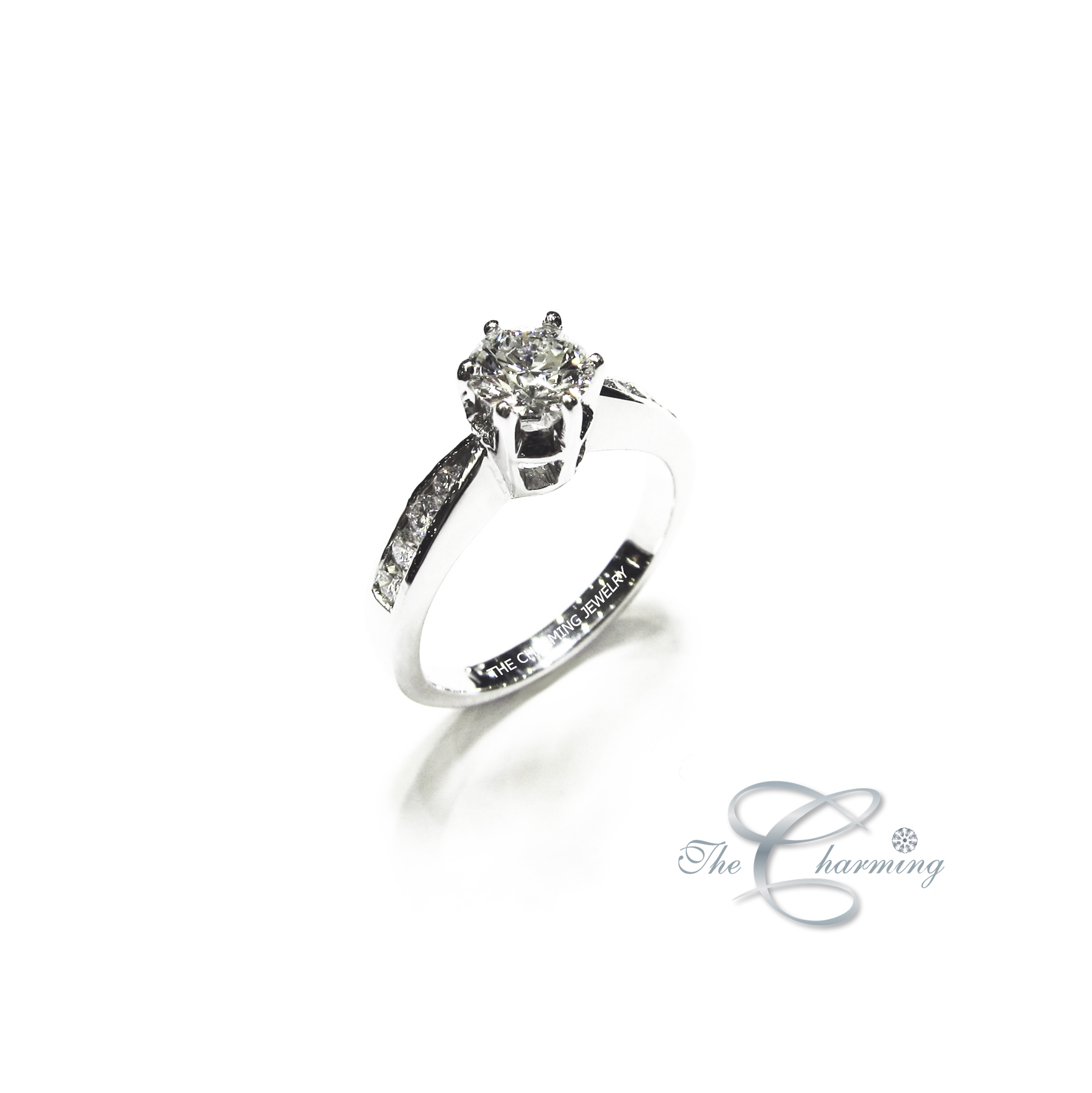 The Charming_solitaire_diamond ring_wedding ring_ring