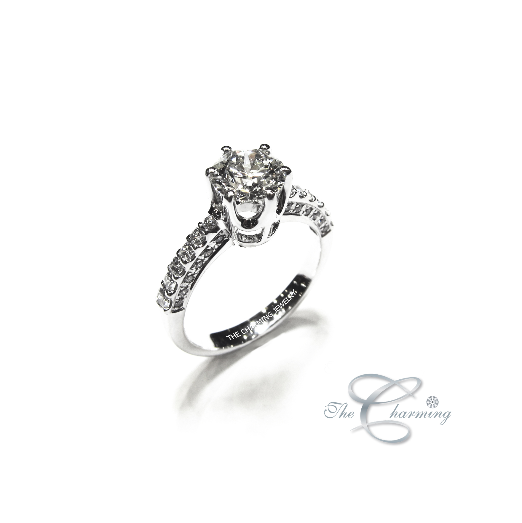 The Charming_solitaire_diamond ring_wedding ring_ringแหวน_r4378